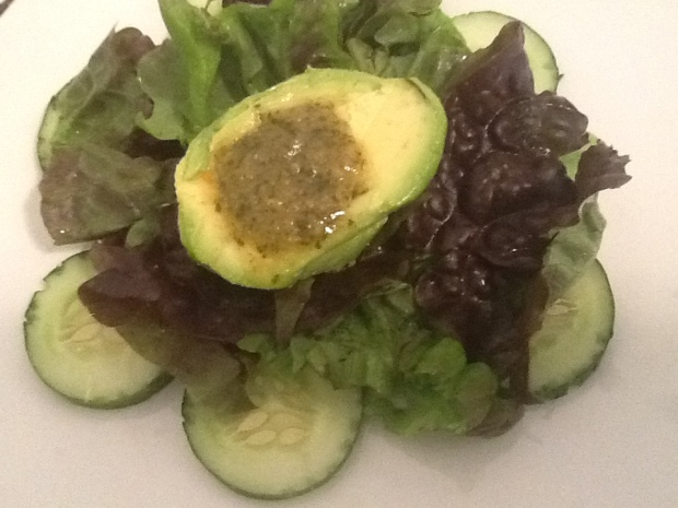 Avacado and cucumber salad